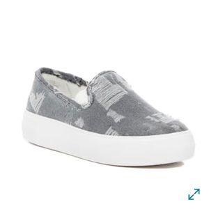 Sole Society Grey Keke Slip-On Platform Sneaker